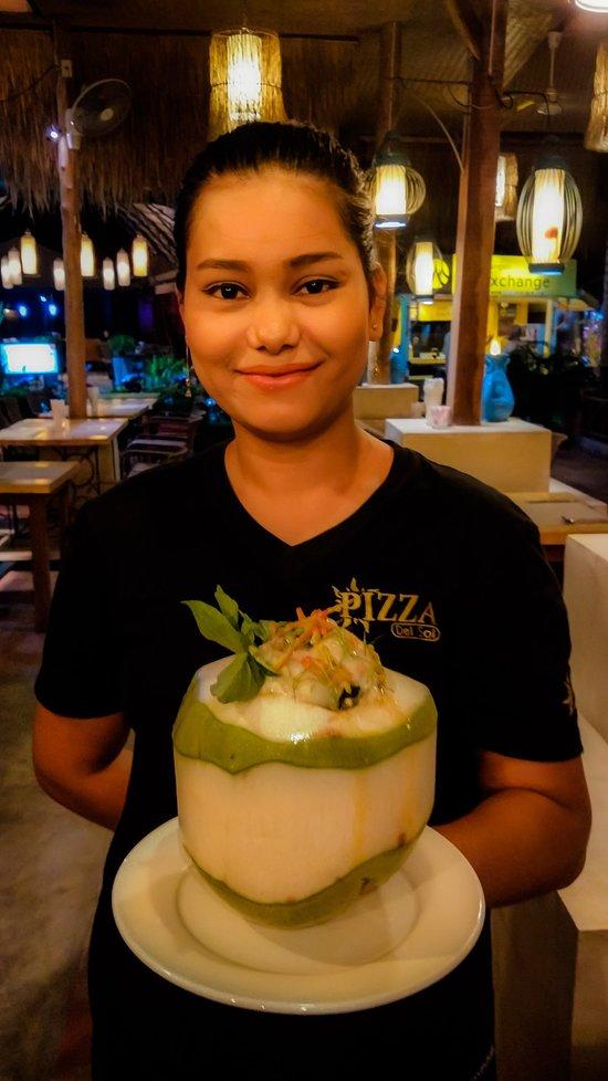 La Coconut Seafood, specialité du restaurant One O One à Lami Beach (Koh Samui).