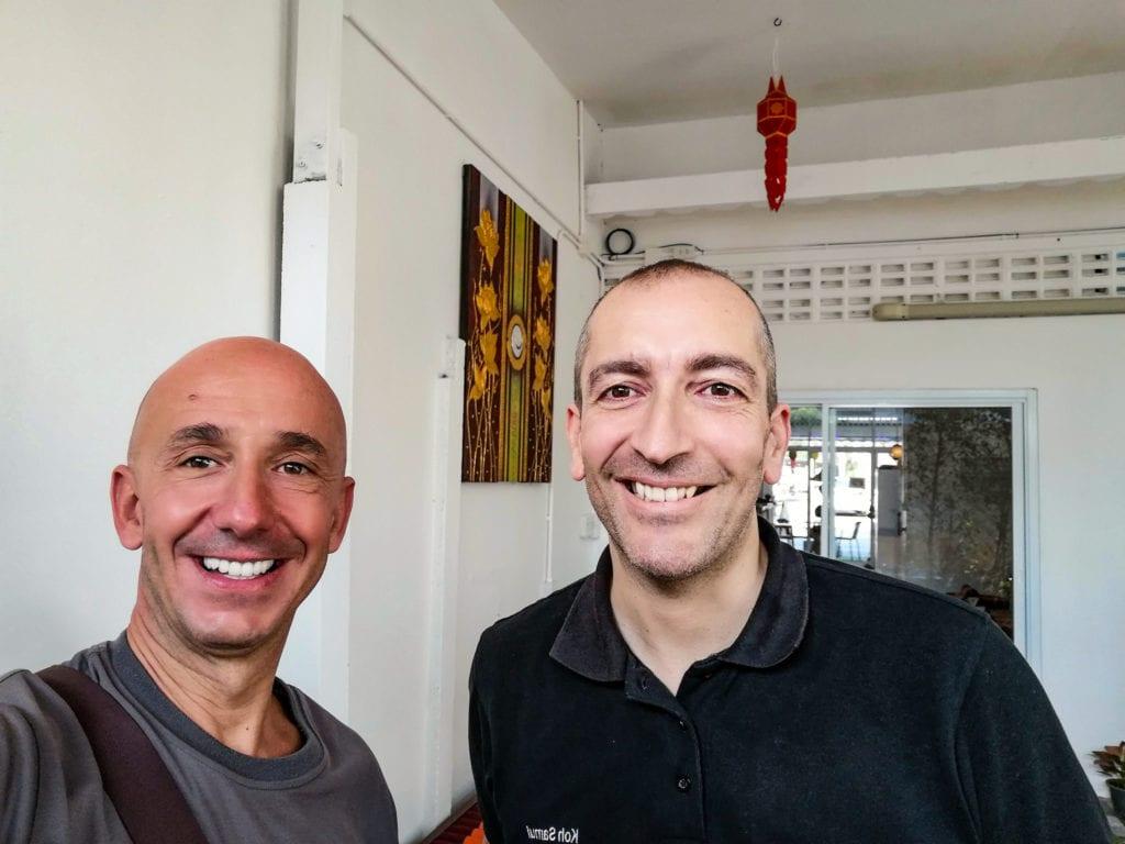 Bernie et Alexandre Fontana a Horizon Cafe Samui.