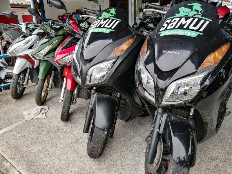 Location scooter a Koh Samui chez Samui Decouverte.
