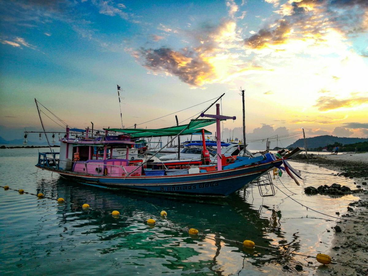 Coucher de soleil a Thong Krut (Koh Samui)