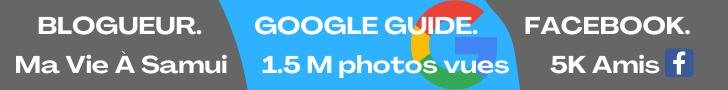 Bernie Samui, blogueur avec notoriété de 1.5 million de photos sur Google Maps officiel en tant que Google Guide et 5000 amis facebook.